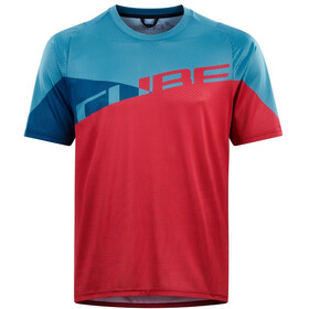 Cube Edge Maillot manches courtes à col rond Homme, pink´n´blue